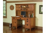 Pedestal Desk and Hutch in Cottage Oak - Arts and Crafts - 5180-184