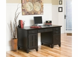 Pedestal Desk in Ebony - Arts and Crafts - 5181-18