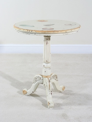 Pedestal End Table - Sandtiques - Ultimate Accents - 21828ET