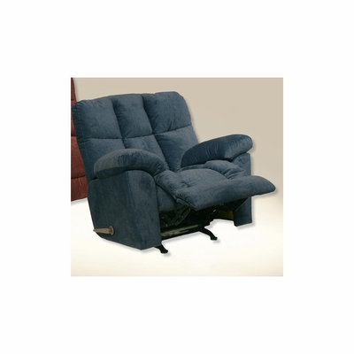 Pegasus Oversized Midnight / Ocean Rocker Recliner - Catnapper