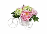 Peony and Hydrangea Tricycle Silk Flower Arrangement - Nearly Natural - 4807