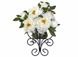 Peony Wall Silk Flower Arrangement - Nearly Natural - 4790