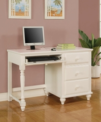 Pepper Pedestal Desk in White - 400367
