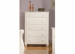 Pepper White Chest with 5 Drawers - 400365