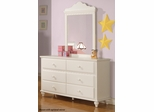Pepper White Dresser with 6 Drawers - 400363