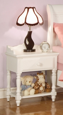 Pepper White Nightstand - 400362