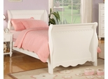 Pepper White Sleigh Bed - 400360T