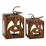 Peter and Paula Pumpkin Candleholders (Set of 2) - IMAX - 59409-2