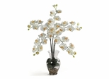 Phalaenopsis Liquid Illusion Silk Flower Arrangement in Cream - Nearly Natural - 1106-CR