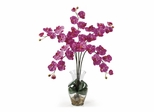 Phalaenopsis Liquid Illusion Silk Flower Arrangement in Dark Pink - Nearly Natural - 1106-DP