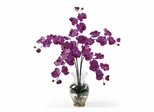 Phalaenopsis Liquid Illusion Silk Flower Arrangement in Orchid - Nearly Natural - 1106-OR