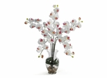 Phalaenopsis Liquid Illusion Silk Flower Arrangement in White - Nearly Natural - 1106-WH