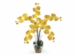Phalaenopsis Liquid Illusion Silk Flower Arrangement in Yellow - Nearly Natural - 1106-YL