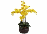 Phalaenopsis with Decorative Vase Silk Flower Arrangement - Nearly Natural - 1211-YL
