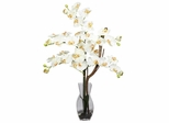 Phalaenopsis with Vase Silk Flower Arrangement - Nearly Natural - 1191-CR
