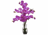 Phalaenopsis with Vase Silk Flower Arrangement - Nearly Natural - 1191-OR