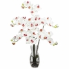 Phalaenopsis with Vase Silk Flower Arrangement - Nearly Natural - 1191-WH