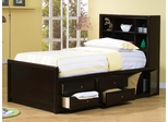 Phoenix Chest Bed w/ Bookcase Headboard - 400180T
