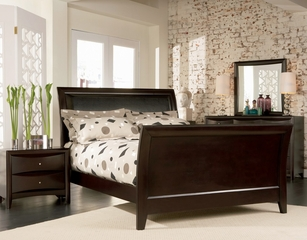 Phoenix Queen Size Bedroom Furniture Set in Rich Deep Cappuccino - Coaster - 200411Q-BSET