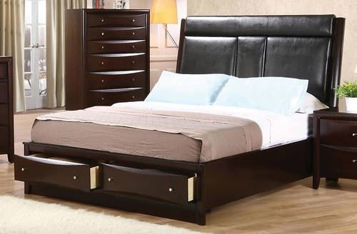 Phoenix Upholstered Storage Bed - 200419Q