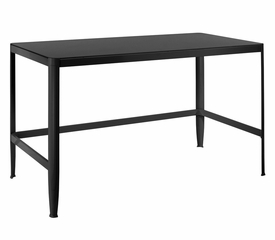 Pia Black Table with Black Glass - LumiSource - TB-CF-PIA-BK-BK
