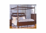 Picardy Canopy Poster Bed Waxed Cherry - Largo - LARGO-ST-B2110-BED