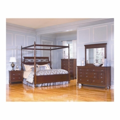 Picardy Canopy Poster Bedroom Set 5 Piece Waxed Cherry - Largo - LARGO-WG-B2110-5PC-SET