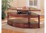 Pie Shape Table in Cherry / Brown - Coaster