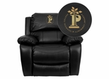 Pierpont Community & Technical College Black Leather Recliner  - MEN-DA3439-91-BK-41060-EMB-GG