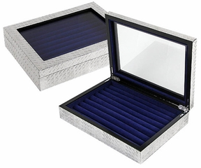 Pig Iron Diamond Plate Cufflink Box - JBQ-PI512