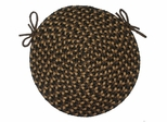 "Pilgrim Brown 15"" Braided Chair Pad - Rhody Rug - PG-3315CPBR"