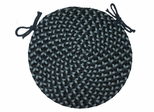 "Pilgrim Navy 15"" Braided Chair Pad - Rhody Rug - PG-1315CPNA"