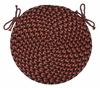 "Pilgrim Wine 15"" Braided Chair Pad - Rhody Rug - PG-4315CPWI"