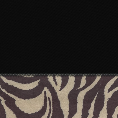 Pillow in Coal + Zebra - 24