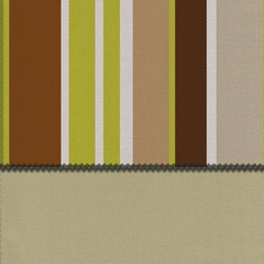 "Pillow in Lime Mocha + Khaki - 24"" x 24"" L.X.E.Print/Solid - 33-1204-6002"