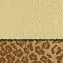 "Pillow in Sand + Leopard - 24"" x 24"" L.X.E.Solid/Poly-Suede - 33-1204-4004"