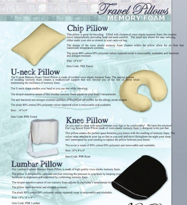 Pillow - Knee Pillow - SilverRest - SRPKNEMEM