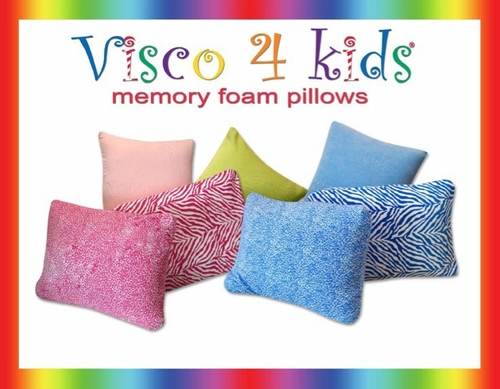 Pillow - Visco 4 Kids Cheetah Blue Pillow - SilverRest - SRPCHBMEM
