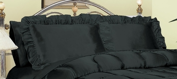 Pillowcase - Charmeuse II 230TC Satin Standard Pillowcase (Set of 2) in Black - 200SCS2BLCK