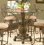 Pina Colada Counter Height Table with Glass Top - Largo Furniture - D1152-TBL-2
