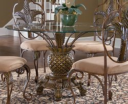 Pina Colada Dining Table with Glass Top - Largo Furniture - D1152-TBL-1