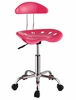 Pink and Chrome Adjustable Height Rolling Chair (Set of 2) - Powell Furniture - 207-257-SET