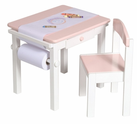 Pink Art Table and Chair Set - Guidecraft - G98048