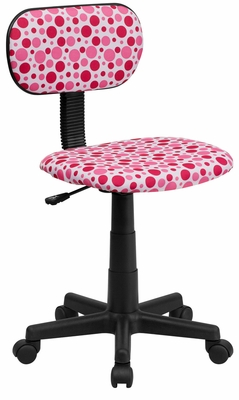 Pink Dot Printed Computer Chair - BT-D-PK-A-GG