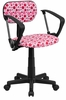 Pink Dot Printed Computer Chair - BT-D-PK-GG