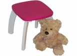 Pink Kids Bow Leg Stool
