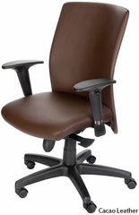 Pinnacle Office Chair with Black Polyurethane Base - Mac Motion Chairs - CEL-7120-B