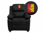 Pittsburg State University Gorillas Black Leather Kids Recliner - BT-7985-KID-BK-LEA-41061-EMB-GG