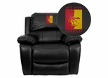 Pittsburg State University Gorillas Black Leather Recliner  - MEN-DA3439-91-BK-41061-EMB-GG