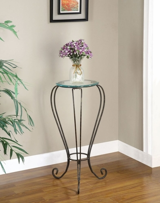 Plant Stand with Glass Top - Garden District